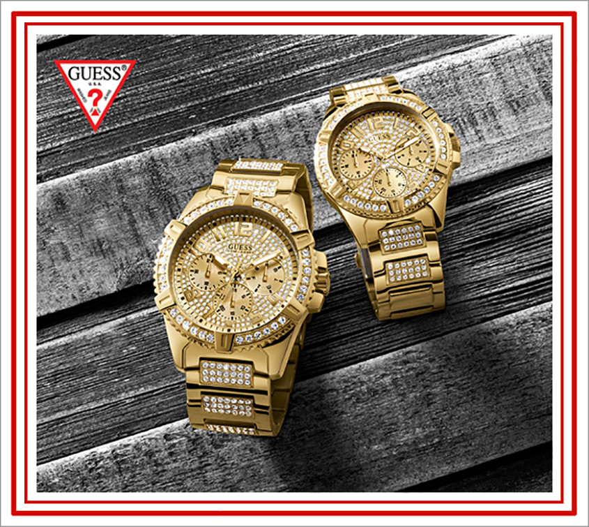 His and hers Guess horloges