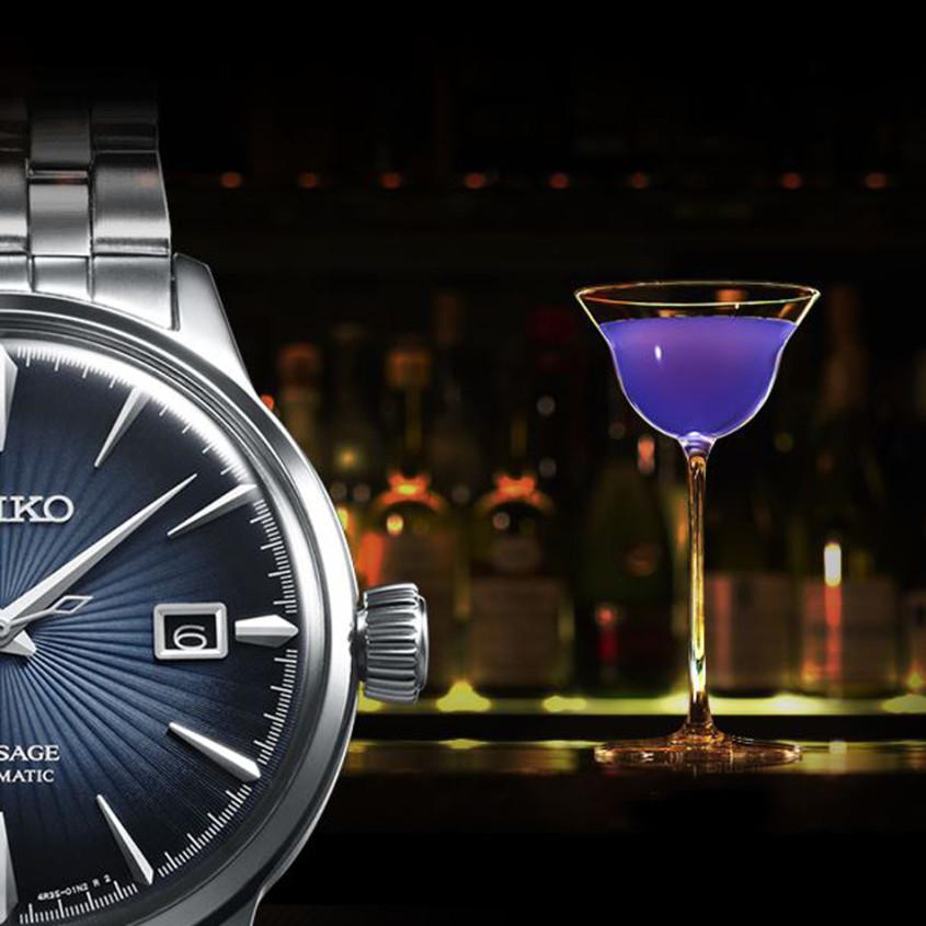 Blue Moon cocktail horloge