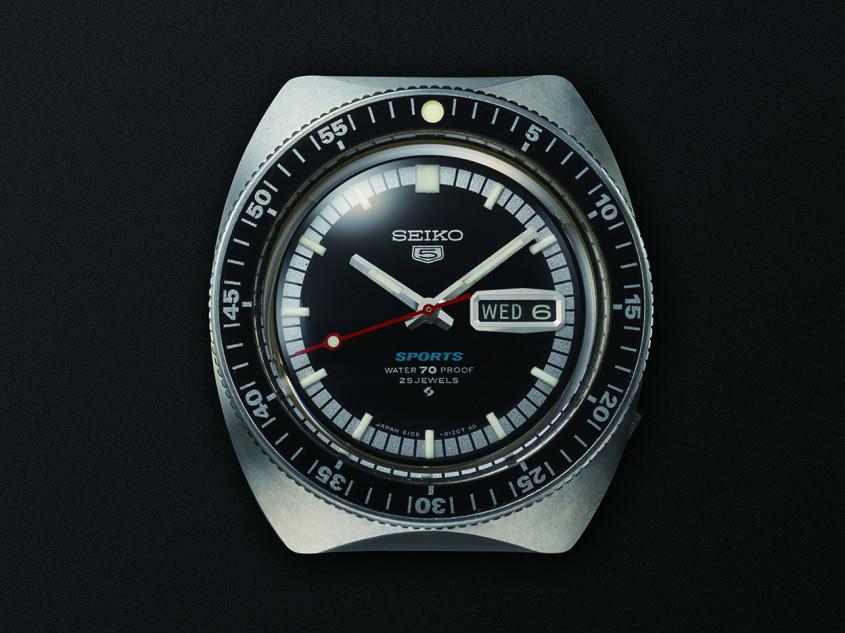 Foto van het eerste Seiko 5 horloge