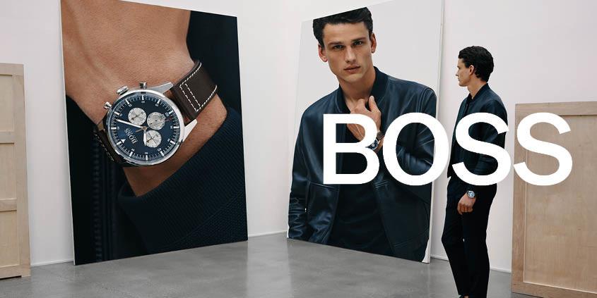 Afbeelding model met Boss horloge