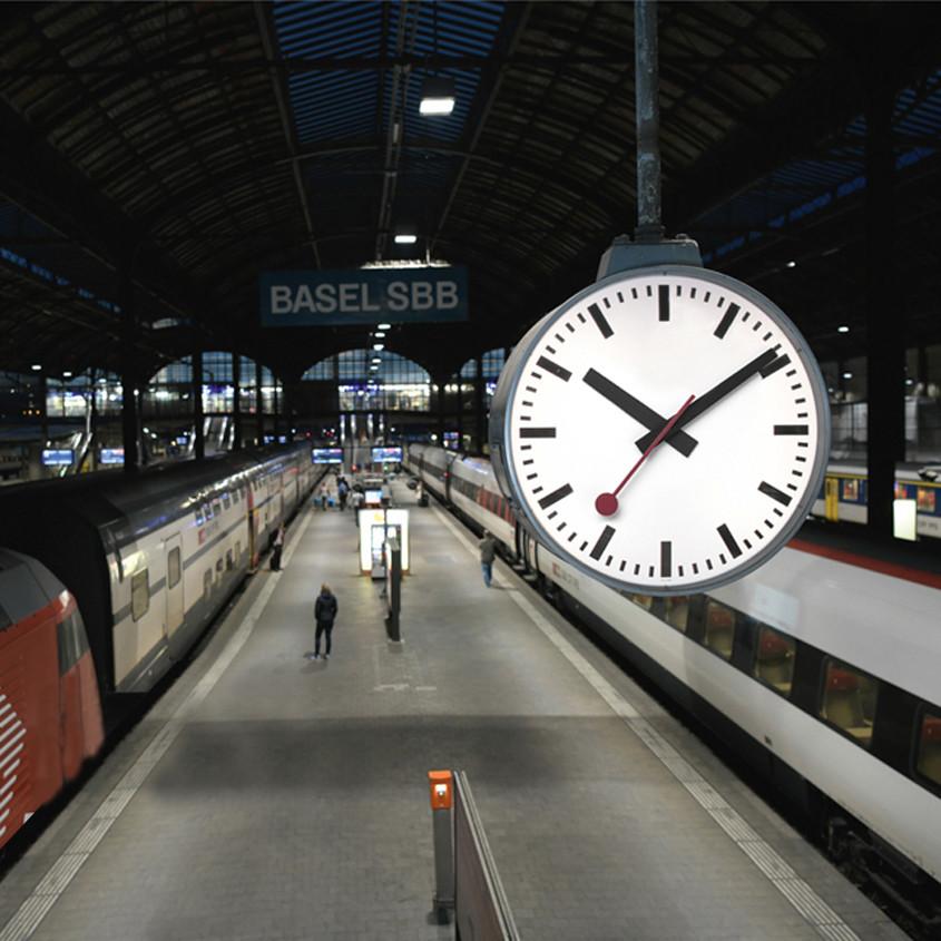 Picture of swiss railways clock