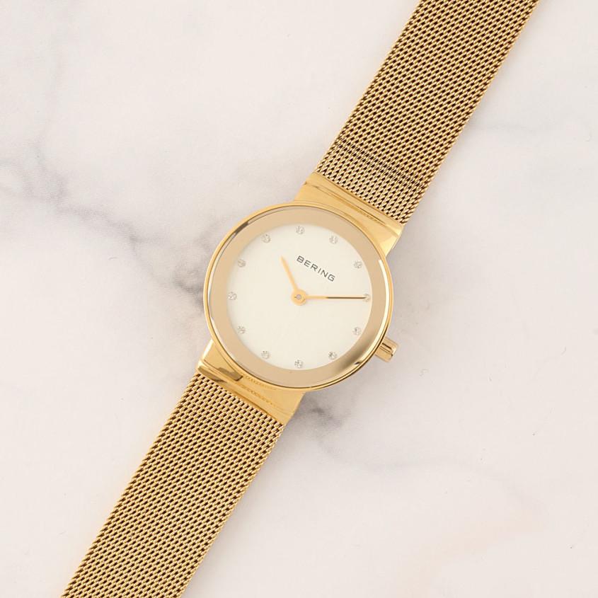 Het zelfde Bering horloge met mesh band