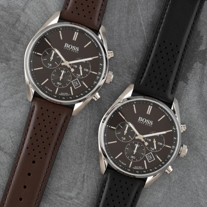 Hugo Boss horloge met een bruine of zwarte band