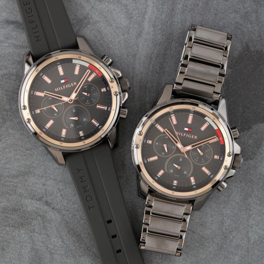 Tommy Hilfiger horloges met een zwarte of grijze band
