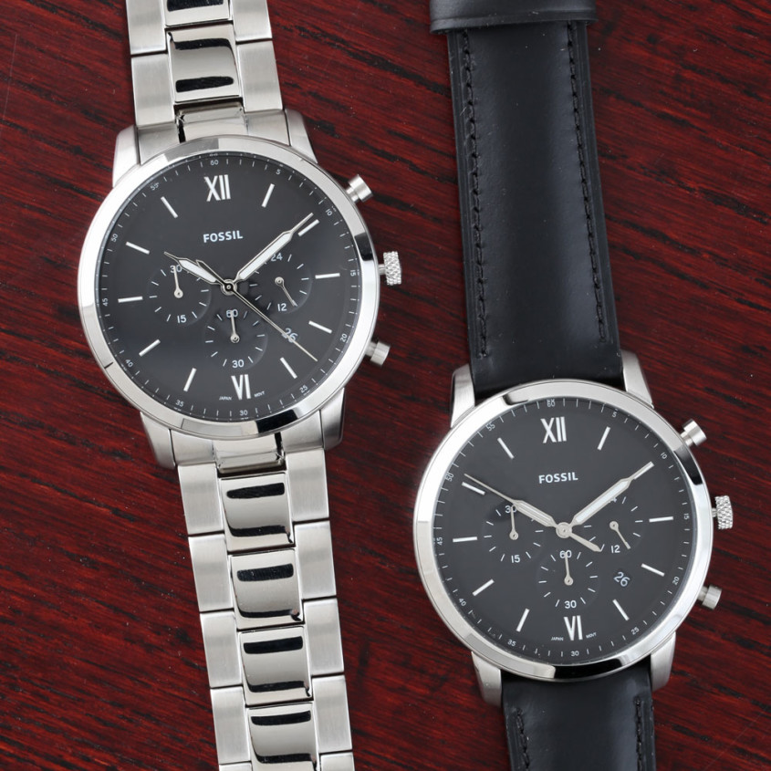 Fossil horloges met easy click band
