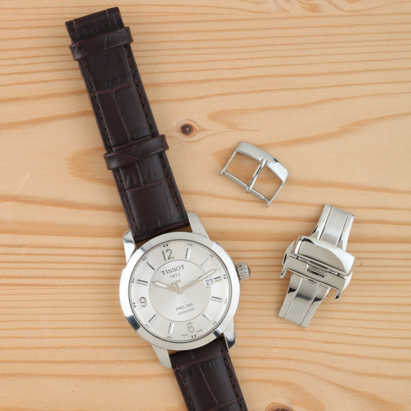 Tissot horlogeband met sluitingen