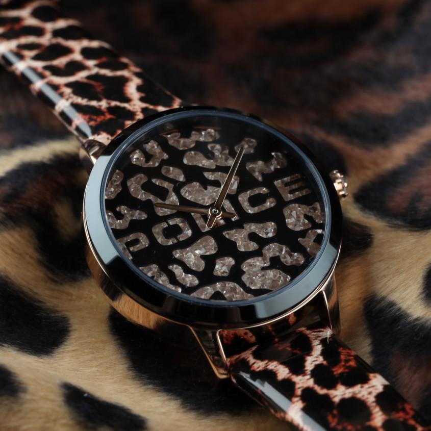 luipaardprint horloge