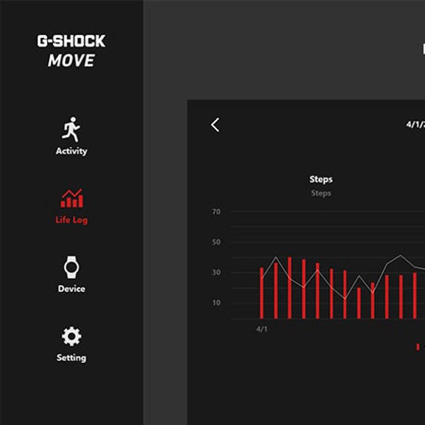 Foto G-Shock Move app