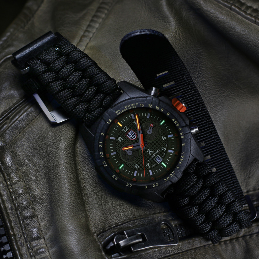 Foto Luminox horloge met paracord band
