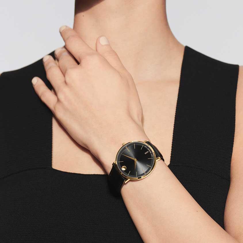 Foto Movado Ultra-slim horloge