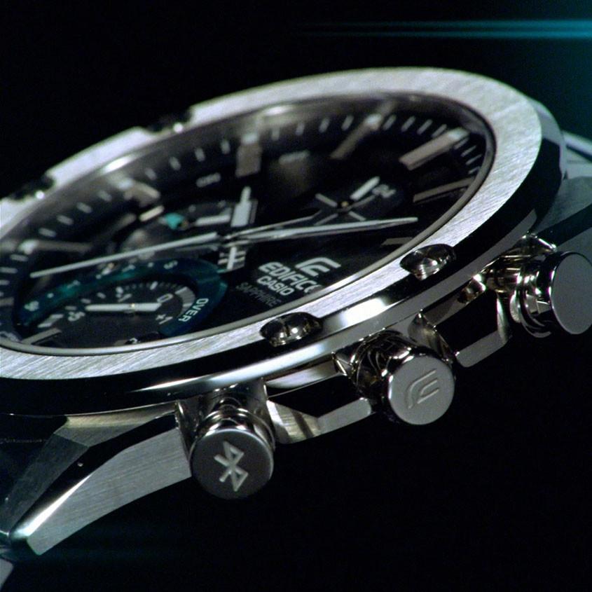 Zijaanzicht EQB-1000 horloge