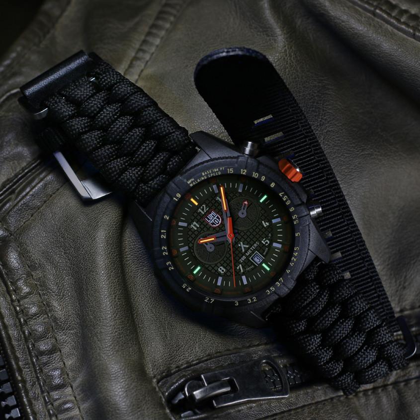 Foto Luminox horloge met paracord band