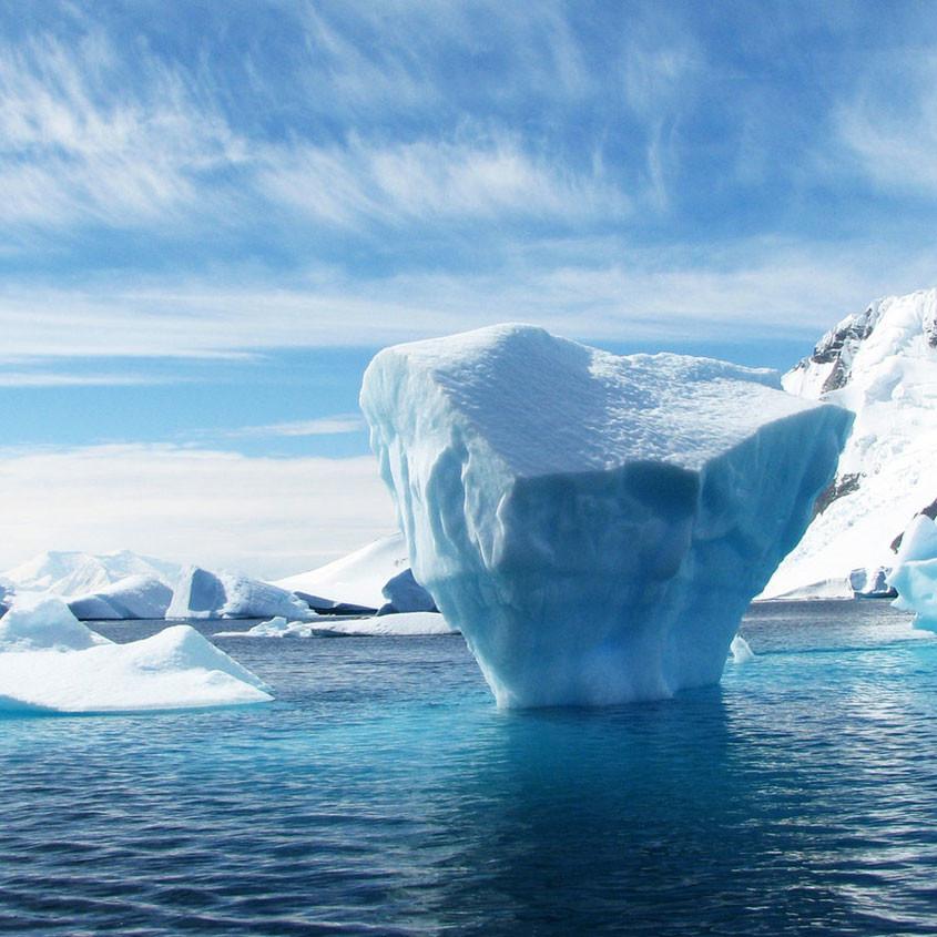 Foto blauw ijs