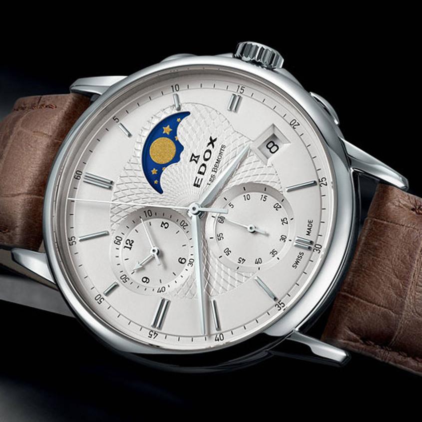 Foto van Edox maanfase horloge