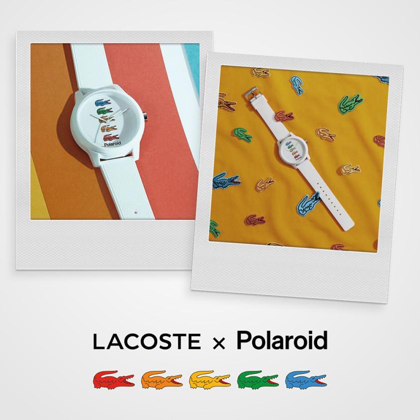Lacoste x Polaroid advertentie