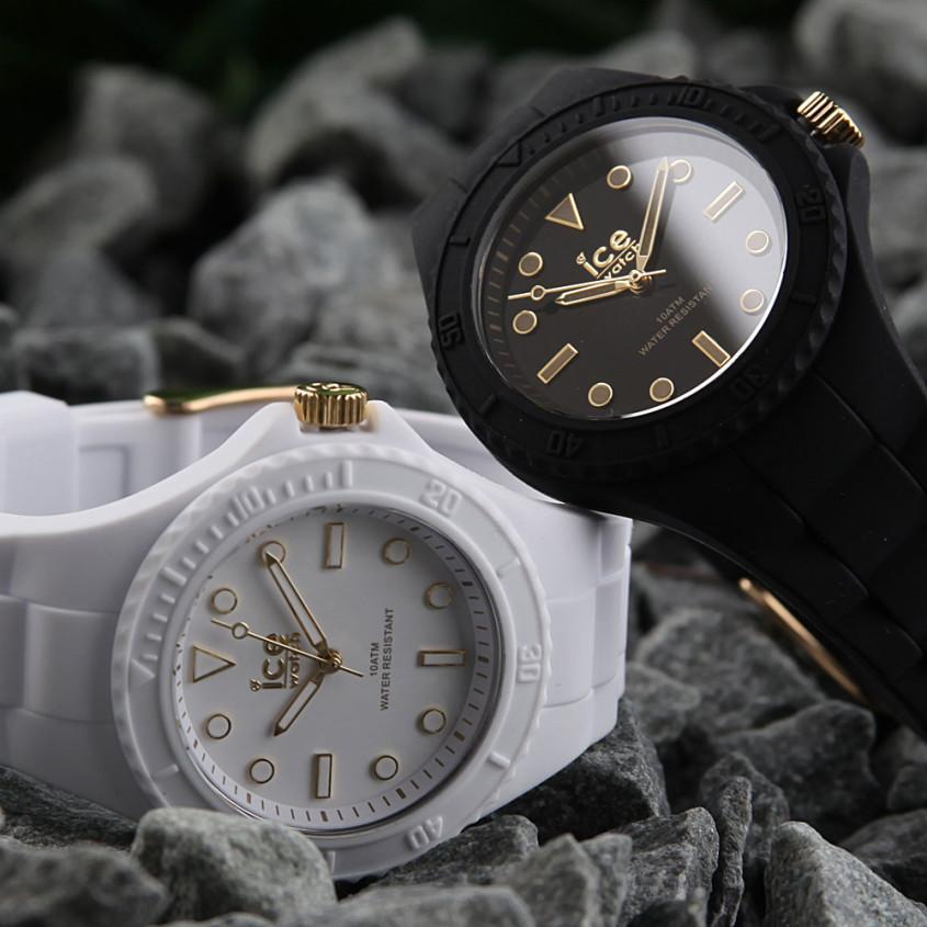 Ice-Watch horloges met goudkleurige indexen
