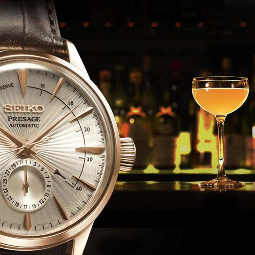 Sidecar cocktail horloge