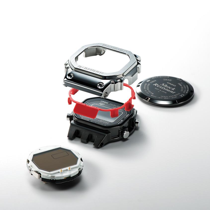 Afbeelding van de onderdelen van de G-Shock kast