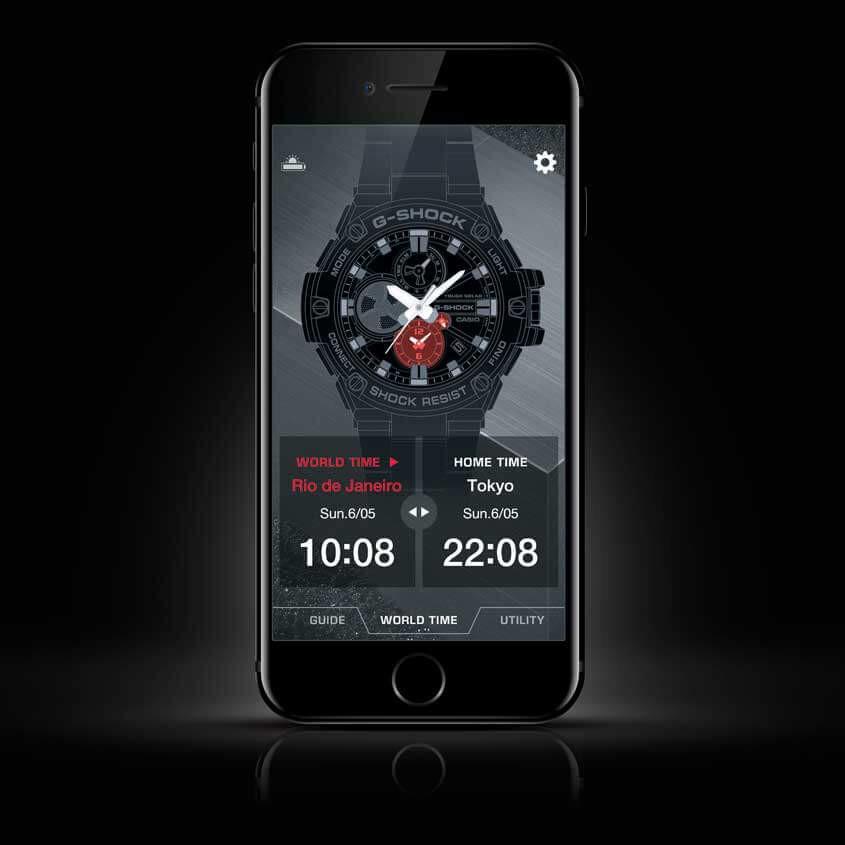 Afbeelding G-ShockApp op smartphone