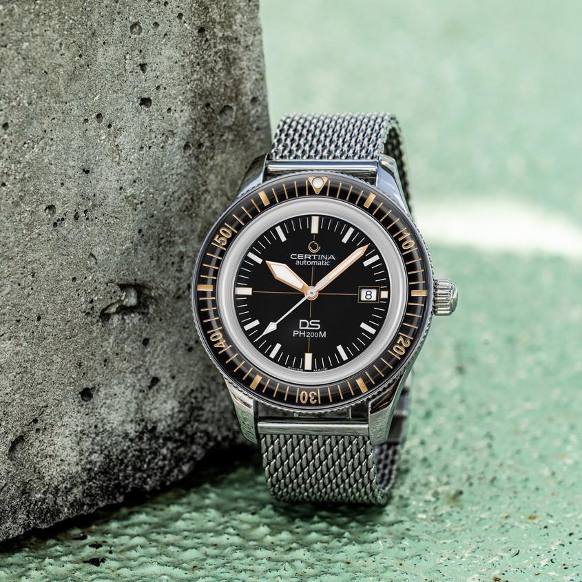 Foto Certina horloge met mesh band