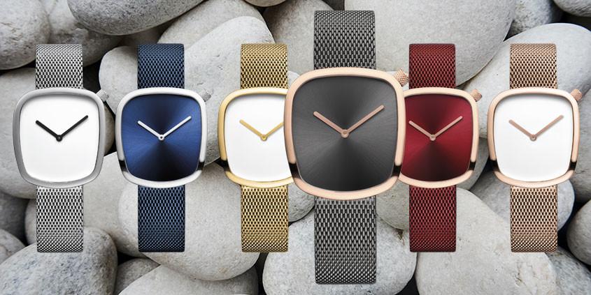 Overzicht kleuren Pebble horloges