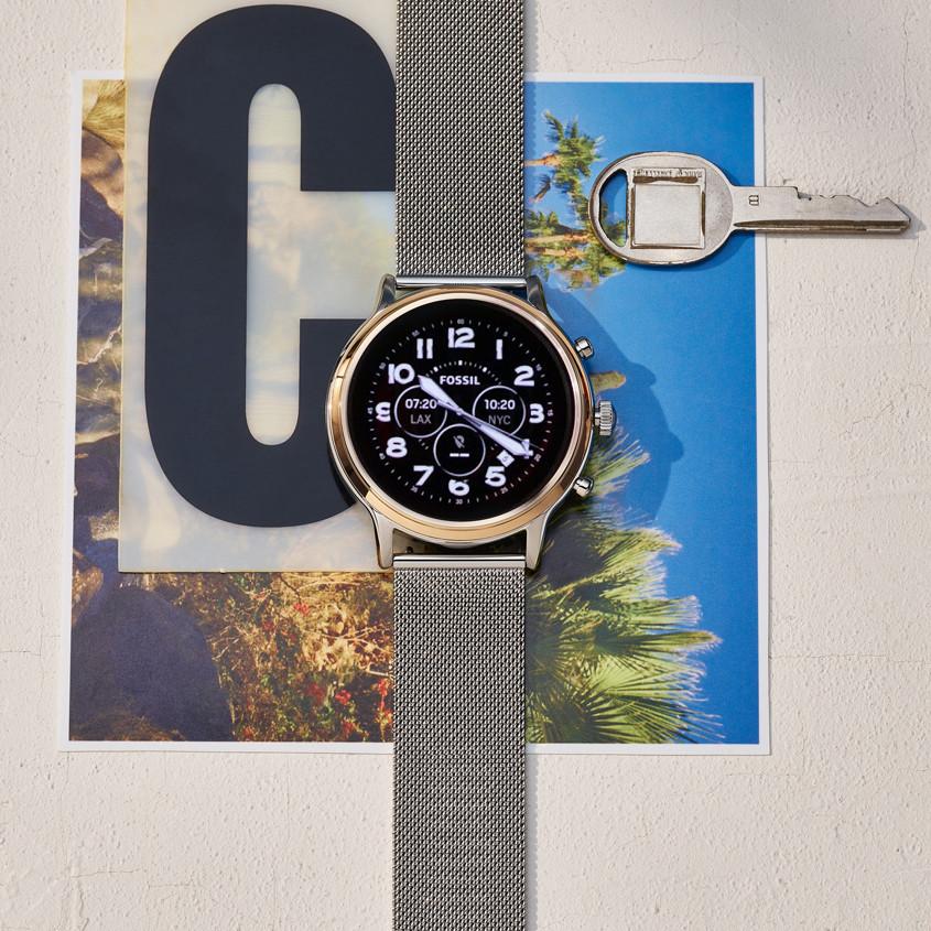 Foto alternatieve wijzerplaat Fossil smartwatch