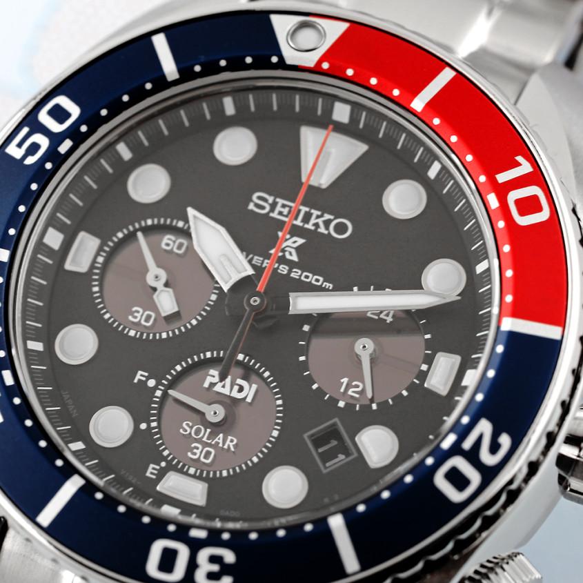 Seiko Prospex PADI SSC795J1 solar duikchronograaf