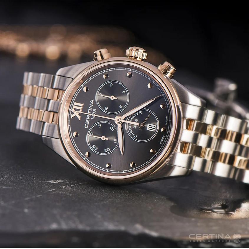 Certina Urban C0332342208800 DS-8 Chronometer chronograaf voor dames