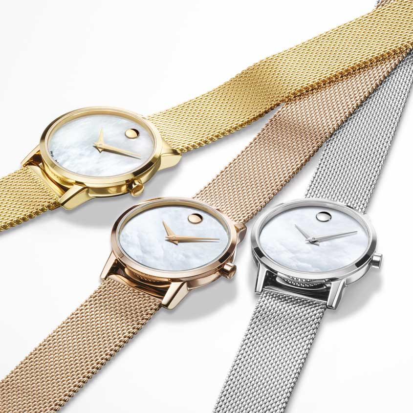 Movado Classic mesh horloge