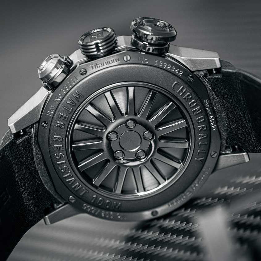 Foto achterkant Edox Chronorally X-Treme Pilot