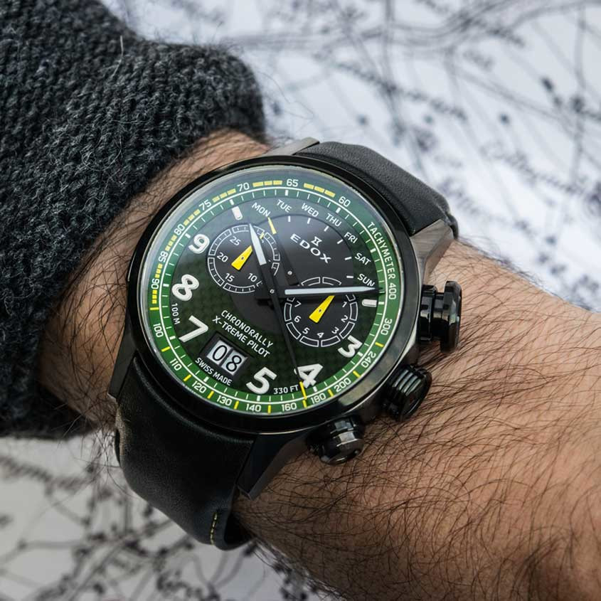 Polsfoto Edox Chronorally X-Treme Pilot