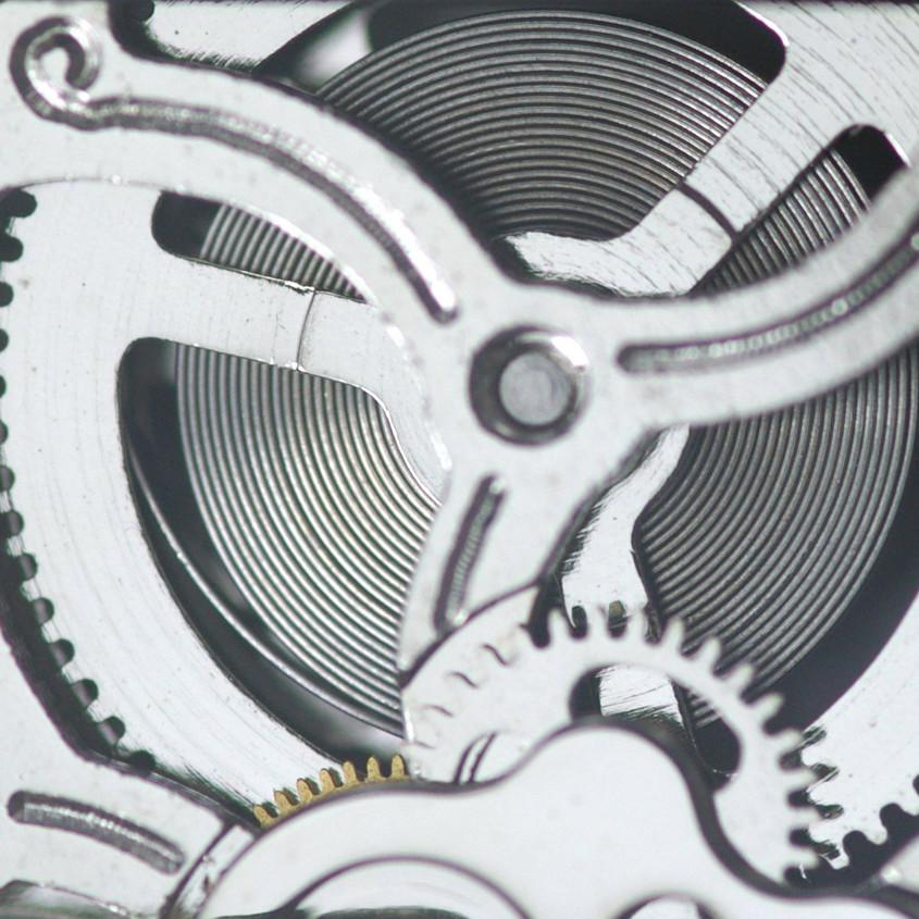 Foto mechanisch uurwerk